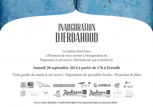 Invitation au vernissage de Djerbahood - Erriadh - Djerba