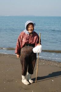 Maman sur la plage (avant)